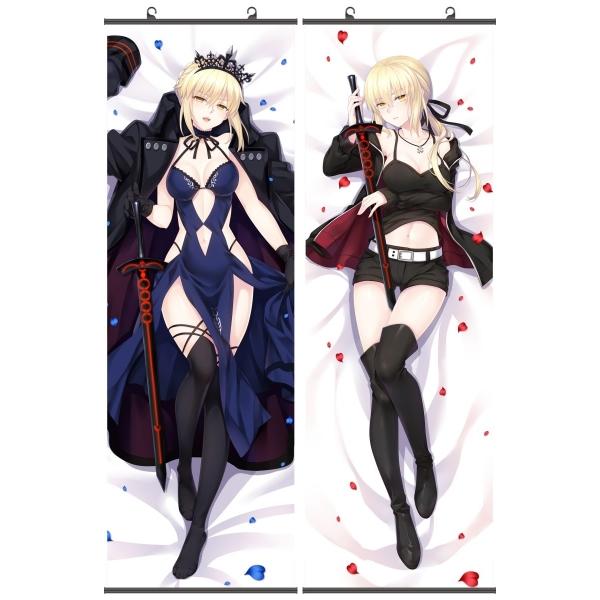 Fate stay night セイバーオルタ 二次創作 同人 タペストリー お得2枚セットあり! 萌工房=MGF gmz09959-12