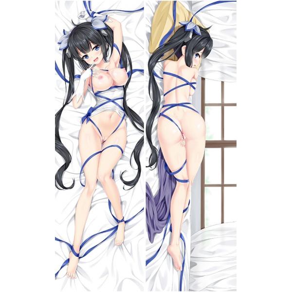 ダンジョンに出会いを求めるのは間違っているだろうか ヘスティア 二次創作 同人 18禁 抱き枕カバー ダンまち ロリ神 ロリ巨乳 雨の日アリス jz00098-2