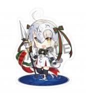 【在庫SALE】Fate/Grand Order ジャンヌ・ダルク・オルタ・サンタ・リリィ スタンドキーホルダー(アクリル/両面) 二次創作グッズ 同人グッズ FGO Fatego フェイト/グランドオーダー 箱庭しんふぉにー=saru  tk-khz11011