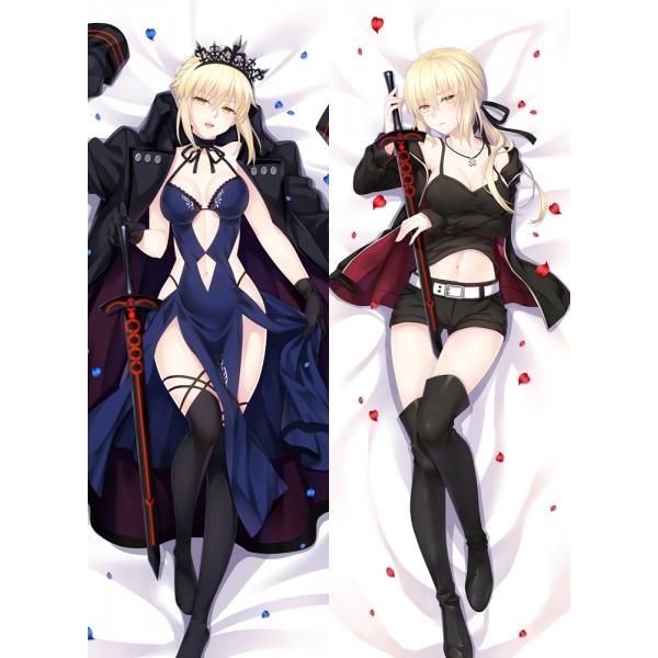 Fate/stay night セイバーオルタ 二次創作 同人 抱き枕カバー Fate SN 黒セイバー ランジェリーオルタ フェイト・ステイナイト 萌工房 mz09959-1
