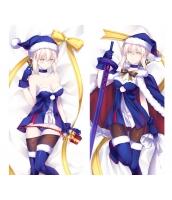 Fate アルトリア・ペンドラゴン 1/2サイズ 二次創作 同人 抱き枕カバー フェイト セイバーオルタ サンタオルタ 萌工房 smz09946-1