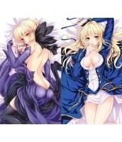 Fate アルトリア・ペンドラゴン 1/2サイズ 二次創作 同人 抱き枕カバー フェイト 青セイバ 萌工房 smz10003-1
