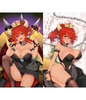 マリオシリーズ クッパ姫 1/2サイズ 二次創作 同人 抱き枕カバー スーパーマリオ 赤毛ver 萌工房 smz10242-1